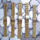 Mens Two Tone Silver Gold Plated Adjustable Watch Strap Bracelet Band 18mm 20mm