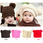 Kids/Baby/Girl/Boy Knitted Winter Crochet Hat/Baby Dual Ball Fashion Hat Cap