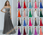 2014 Simple Strapless Chiffon Prom Bridesmaids Dresses Evening Party Gowns 6-26
