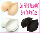 Gel Filled 'Push Up' - Sew in Bra Cups - Perfect For Dress-Making & Alterations