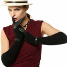 Opera Long Wool / Cashmere Blend Leather Gloves Two Piece Separable Design