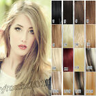 New HOT Full head set Clips on Human Hair Extensions Any color all size Straight