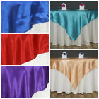 """6 Pack 60"""" Square SATIN Overlays Wedding Party Reception Decorations- 27 Colors!"""