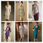 New Stock Lace/Satin Mother of the Bride dresses outfit size 6 8 10 12 14 18