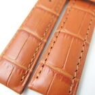 HQ 18/16MM or 20/16MM BROWN ITALY TOP LEATHER WATCH BAND MATTED CROC GRAIN STRAP
