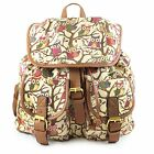 New Ladies Owl Print Backpack Rucksack Bag Shoulder Bag Tree UK Canvas Material