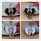 Elephant Rhinestone Keychain Charm Pendent Crystal Purse Bag Key chain YSK197