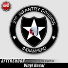 2nd Infantry Division Sticker - military indianhead decal usa