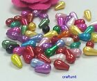 100-500 pcs  Plastic 10x6mm pearl teardrop beads C040 C111 U PICK