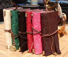 Vintage PU Leather Ruler Notebook Journal Diary Travel Blank String Personalized