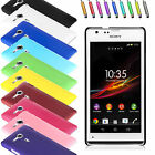 HARD MATTE CASE COVER POUCH FOR VARIOUS SONY XPERIA PHONES + SCREEN PROTECTOR