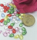 100-250 pcs Acrylic faceted teardrop charms 10x8mm 9x6mm c169 c793  U PICK