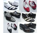 NEW MENS DESIGNER ITALIAN LACE UP & SLIP ON BROGUE & PATENT PARTY FORMAL SHOES