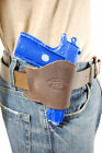 NEW Barsony Brown Leather OWB Yaqui Holster Beretta, Kahr Small 380 UltraComp 9