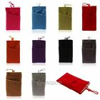 Soft Sleeve Cloth Two Pocket Bag Case  Pouch For iPhone 5 5S 5C Samsung S3 S4