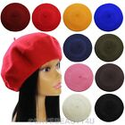 New Womens Winter Fashion Warm Soft Wool French Berets Tam Beanie Slouch Hat