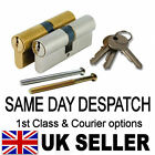 UPVC Euro Cylinder ANTI DRILL aluminium Door LOCK Barrel BRASS or NICKEL Finish