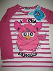 Girls official long sleeved pink Furby t-shirt top age 5-6, 7-8 and 9-10 BNWT