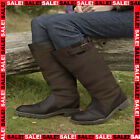 LADIES MENS WATERPROOF RIDING WALKING STABLE LEATHER COUNTRY BOOTS SIZE UK 2-12