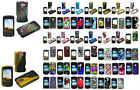 1 Rubber Feel / Glossy Design Hard Case For LG Optimus Q l55c Slider Prepaid Phone