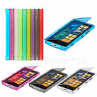 WALLET FLIP TPU SILICONE GEL CASE COVER FOR SMARTPHONES NOKIA LUMIA + SCREEN