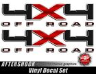 4x4 Carbon Fiber Truck Sticker - black red off road decal for f-150 f150