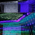 210/320 LED Net Mesh Outdoor Indoor String Light Holiday Party 8 Lighting Action