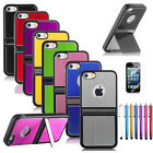 For iPhone 5 5S Aluminum Chrome Steel Hard Cover Case w/ Screen Protector + Pen