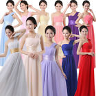 Women One-shoulder Formal Bridesmaid Wedding Party Evening Prom Dress Long Gown