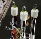 """6"""" COCKTAIL SPOONS 400ct. CUTLERY PICKS CLEAR SILVER DISPOSABLE PARTY SUPPLIES"""