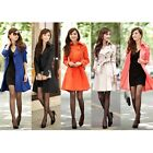 Fashion Women Slim Fit Trench Double Breasted Outwear Coat
