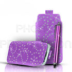 Bling Premium PU Leather Pull Tab Case Cover & Stylus For Various Nokia Mobiles