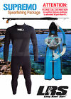 NEW SUPREMO SPEARFISHING PKGE Wetsuit Speargun Mask snorkel and fin set
