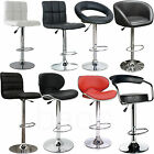 4 Bar Stools - Faux Leather Metal Base Kitchen Breakfast Stool Dining Room Chair