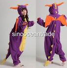 Spyro Purple Dragon Dnosaur Adult Kigurumi Pajamas Anime Cosplay Costume Dress