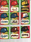 1983 Fleer Team stickers hats your choice of teams available on Ebay
