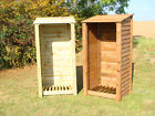 SINGLE 6FT OUTDOOR WOODEN LOG STORE - ALSO AVAILABLE WITH DOORS