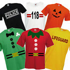 Fancy Dress T Shirt CHOOSE A DESIGN Stag Party Christmas Party Funny Novelty