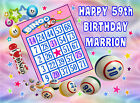 EDIBLE ICING BINGO CARD HAPPY BIRTHDAY NAME STARS RICE CARD CUPCAKE CAKE TOPPERS