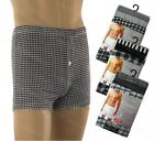 6 Pairs Mens Pattern Checked Jersey Fly Boxer Shorts Briefs Adults Underwear