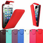 NEW LUXURY LEATHER FLIP CASE COVER FOR APPLE iPHONE 5G & iPHONE 5C