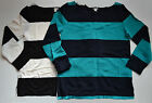 NWT $65 J Crew Rugby Stripe Boatneck Linen Blend Top Size XS