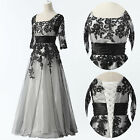 Half Sleeve Vintage Style Ball Gown Evening Prom Party Full Long Dresses 8 Sizes