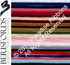 FULL ROLL Berisfords Luxury Velvet Ribbon - 9mm 16mm 22mm 36mm 50mm CHOOSE SHADE