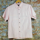 Quiksilver New Mens Genese Golf/Skate/Surf/Casual/Summer Shirt Pink size S/M