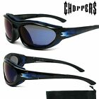 Choppers Sunglasses Motorcycle Bike Goggles with Cushion Foam Driving Shades 913