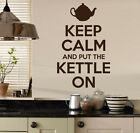 Keep Calm and Put The Kettle On Vinyl Wall Sticker Quote /Wall Decal/Kitchen/ #2