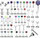 Internally Threaded Labret Monroe Lip Bar Tragus Piercing Helix Star Heart Crown