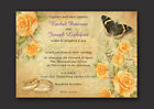 BUTTERFLY VINTAGE  SHABBY CHIC STYLE  PERSONALISED WEDDING INVITATIONS