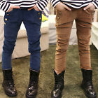 New Size 2-7Years Casual Girls Pants Kids  Fashion Corduroy Trousers PG027